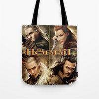 the hobbit Tote Bags featuring Hobbit by custompro
