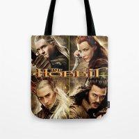 hobbit Tote Bags featuring Hobbit by custompro