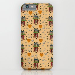 Sankta Lucia with love and candles in the silent night iPhone Case