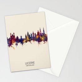 Lucerne Switzerland Luzern Skyline Stationery Cards