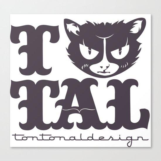 TTAL cat purple Canvas Print