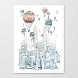 Voyages Over New York ~Refresh Canvas Print