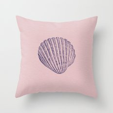 SHELL / pale pink light / deep violet Throw Pillow