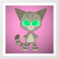 Clara Cat Art Print