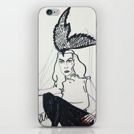 Vampira-bird hat iPhone Skin