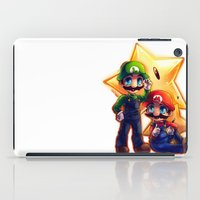 mario bros iPad Cases featuring Mario Bros. by StephanieIllustrations