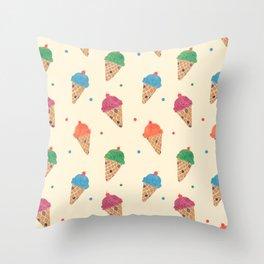 Fun Ice Cream Pattern Throw Pillow