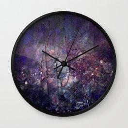 Cracked Purple Geode Texture Wall Clock
