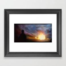 Fallen star Framed Art Print