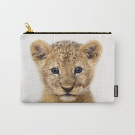 Baby Lion, Baby Animals Art Print By Synplus Carry-All Pouch
