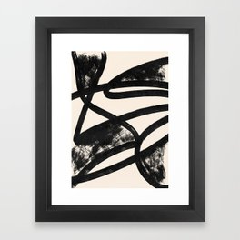 That was a cow - Abstraction print Framed Art Print