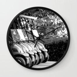 Golf Art Golf Print Black and White Vintage Wall Art Golf Poster Golfing Decor Golf Lovers Wall Clock