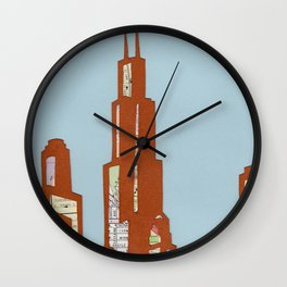 Chicago Skyline Collage Wall Clock