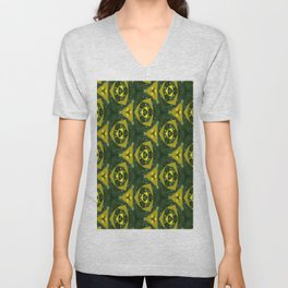 Electric Green Unisex V-Neck