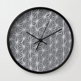 Japanese Tie Dye in Pebble Wall Clock