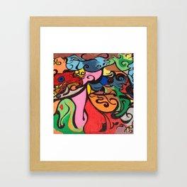Fleshly Framed Art Print