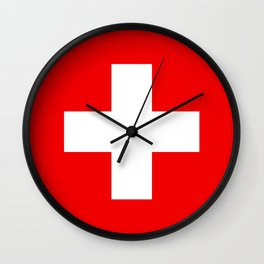 Flag of Switzerland 2:3 scale Wall Clock
