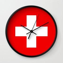 Swiss Flag of Switzerland Wall Clock