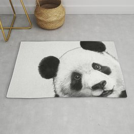 peekaboo panda Rug