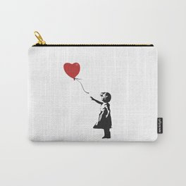 Girl with Balloon - Banksy Graffiti Carry-All Pouch