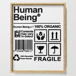 Human Being handle with care Serving Tray