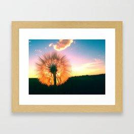 Whimsical wish Framed Art Print
