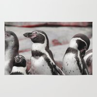 penguins Area & Throw Rugs featuring penguins by MehrFarbeimLeben