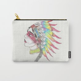Native American Woman Carry-All Pouch
