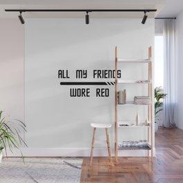 Red Shirt Friends Wall Mural