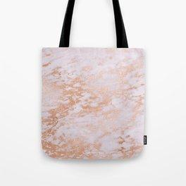 Pastel Lavender Marble Rosegold Glitter Pink Tote Bag