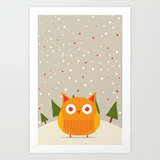 Cute owl Art Print