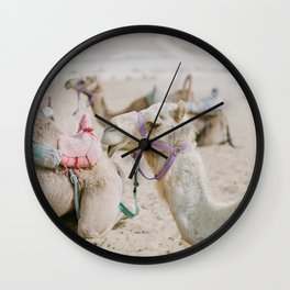 Sassy Camel Friends - Holy Land Fine Art Film Photography Wall Clock