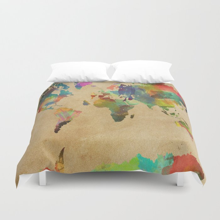 World map duvet cover by evansmith society6 world map duvet cover gumiabroncs Gallery