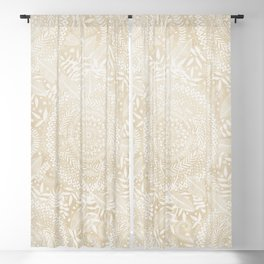 Medallion Pattern in Pale Tan Blackout Curtain
