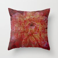 techno Throw Pillows featuring Techno Asian by DesignsByMarly