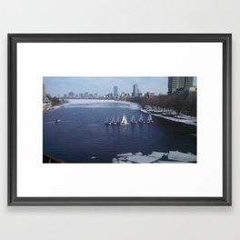 Boating on the Charles River Framed Art Print