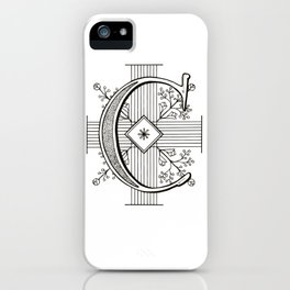 Monogram C iPhone Case