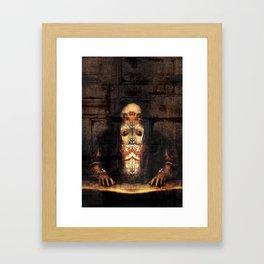 Self-portrait as Abomination (After Titian) Framed Art Print