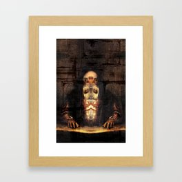 Self-portrait as Abomination (After Titian) Framed Art Print