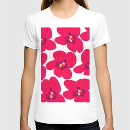 Red Retro Flowers #decor #society6 #buyart T-shirt