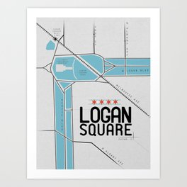 Chicago's Logan Square Art Print