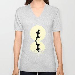 Running Moon Unisex V-Neck