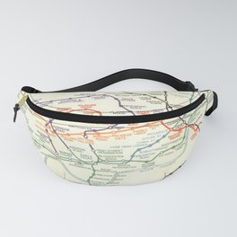 Vintage London Underground Map Fanny Pack