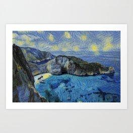 Zakynthos Starry Night Gogh Stars Basin Climber Pic Art Print