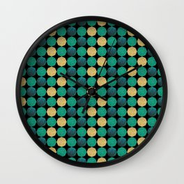 Glitzy Greens Wall Clock