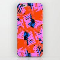 orange pattern iPhone & iPod Skins featuring Orange Pattern by Sarah Bagshaw