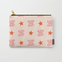 Southern Snark: Bless your heart (bright pink and orange) Carry-All Pouch