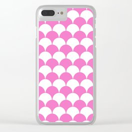 Fan Pattern 321 Pink Clear iPhone Case