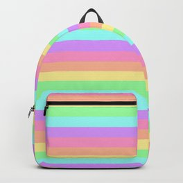 Pastel Rainbow Stripes Backpack