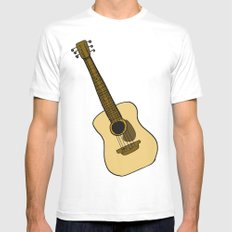 G is for Guitar MEDIUM Mens Fitted Tee White
